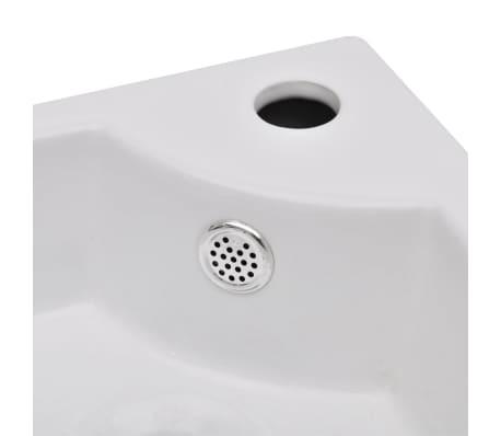vidaXL Wastafel met overloop 45x32x12,5 cm wit[5/7]