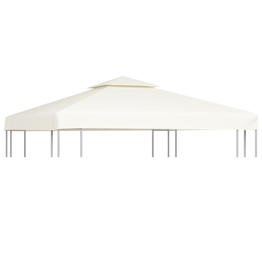 vidaXL Waterproof Gazebo Cover Canopy 270 g / m² Cream White 3 x m