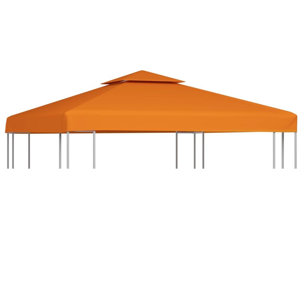 vidaXL Copertină de rezervă acoperiș foișor cărămiziu 3x3 m 310 g/m² vidaxl.ro