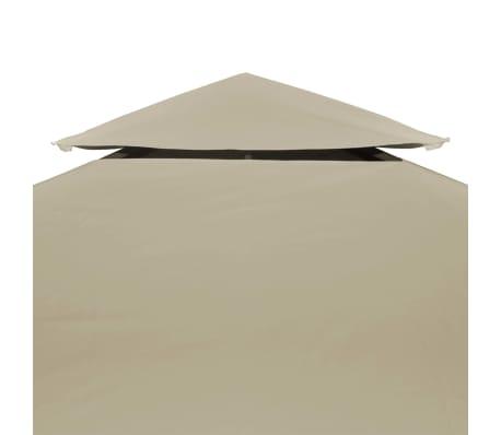 vidaXL Recouvrement de remplacement d'auvent 310 g/m² 3 x 4 m Beige[3/5]