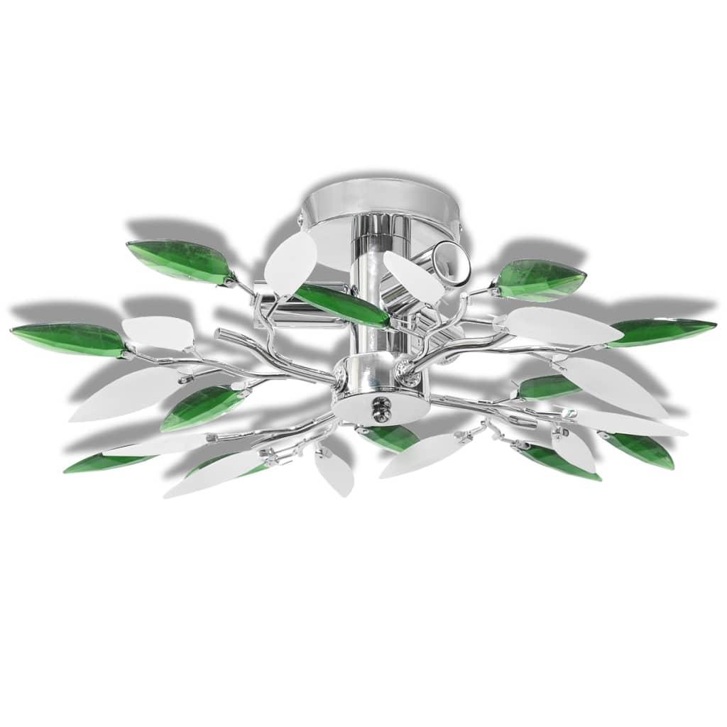 vidaXL Φωτιστικό οροφής με βραχίονες σε σχήμα φύλλου ακρυλλικό κρύσταλλο