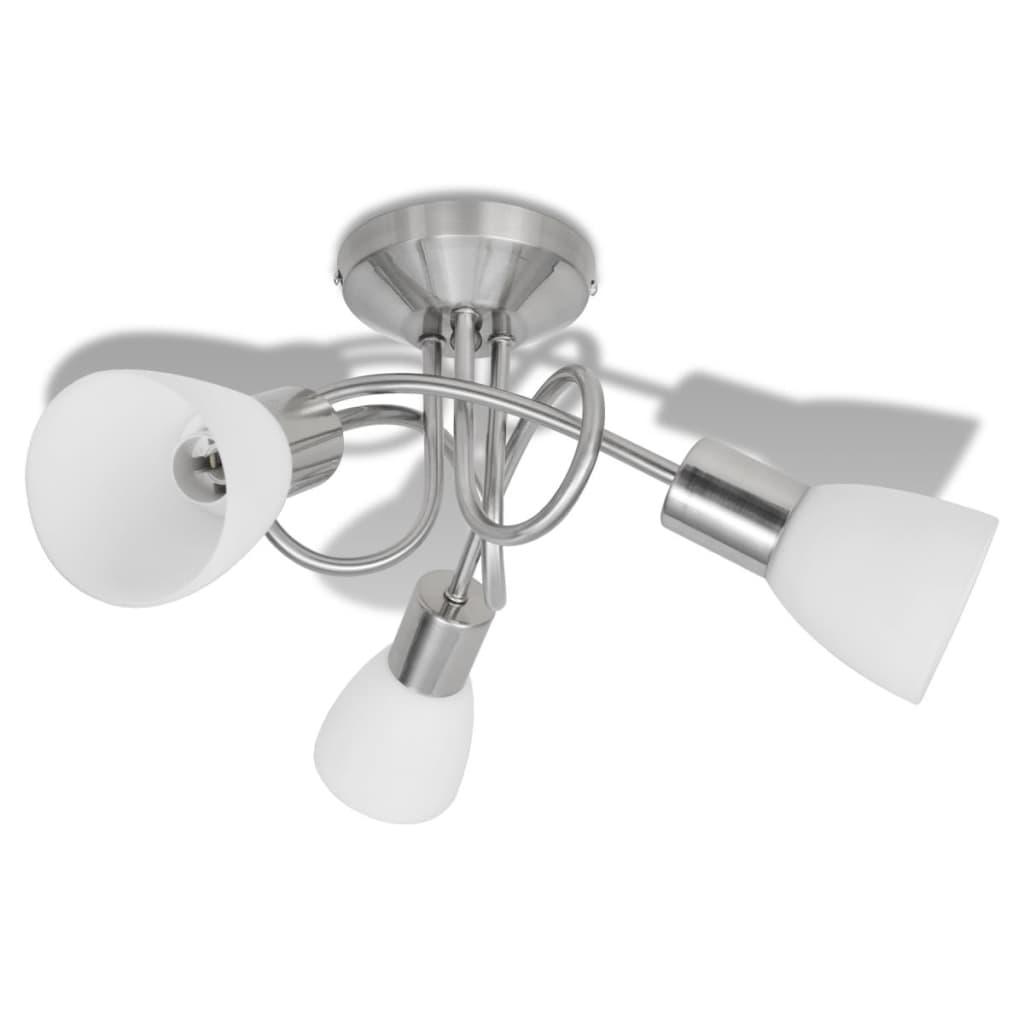 vidaXL Φωτιστικό Οροφής με Γυάλινα Καπέλα για 3 Λαμπτήρες Ε14