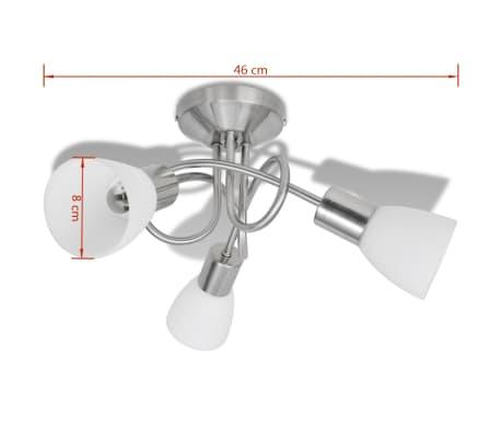 Loftslampe m. glasskærme 3 E14 pærer[6/8]