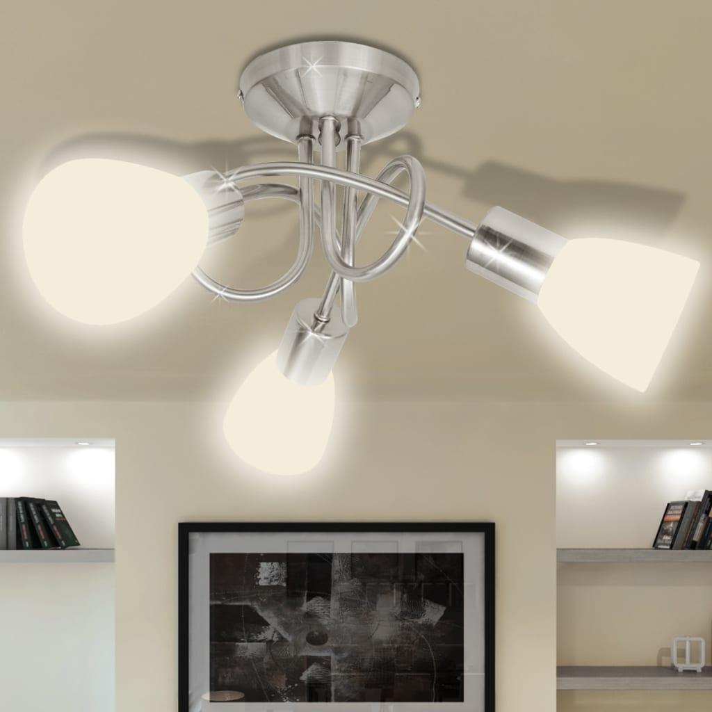 Stropní svítidlo se skleněnými stínidly na 3 žárovky E14