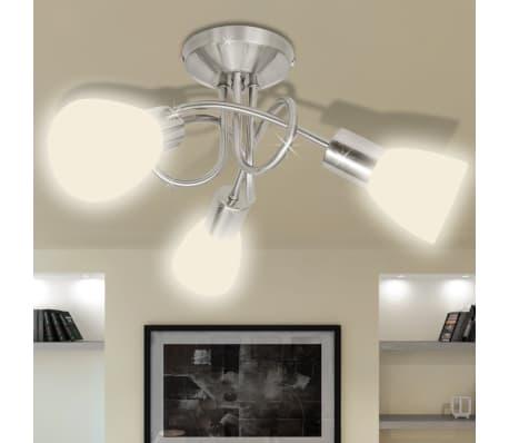 Lampada da Soffitto con Diffusori in Vetro per 3 lampadine E14[1/8]