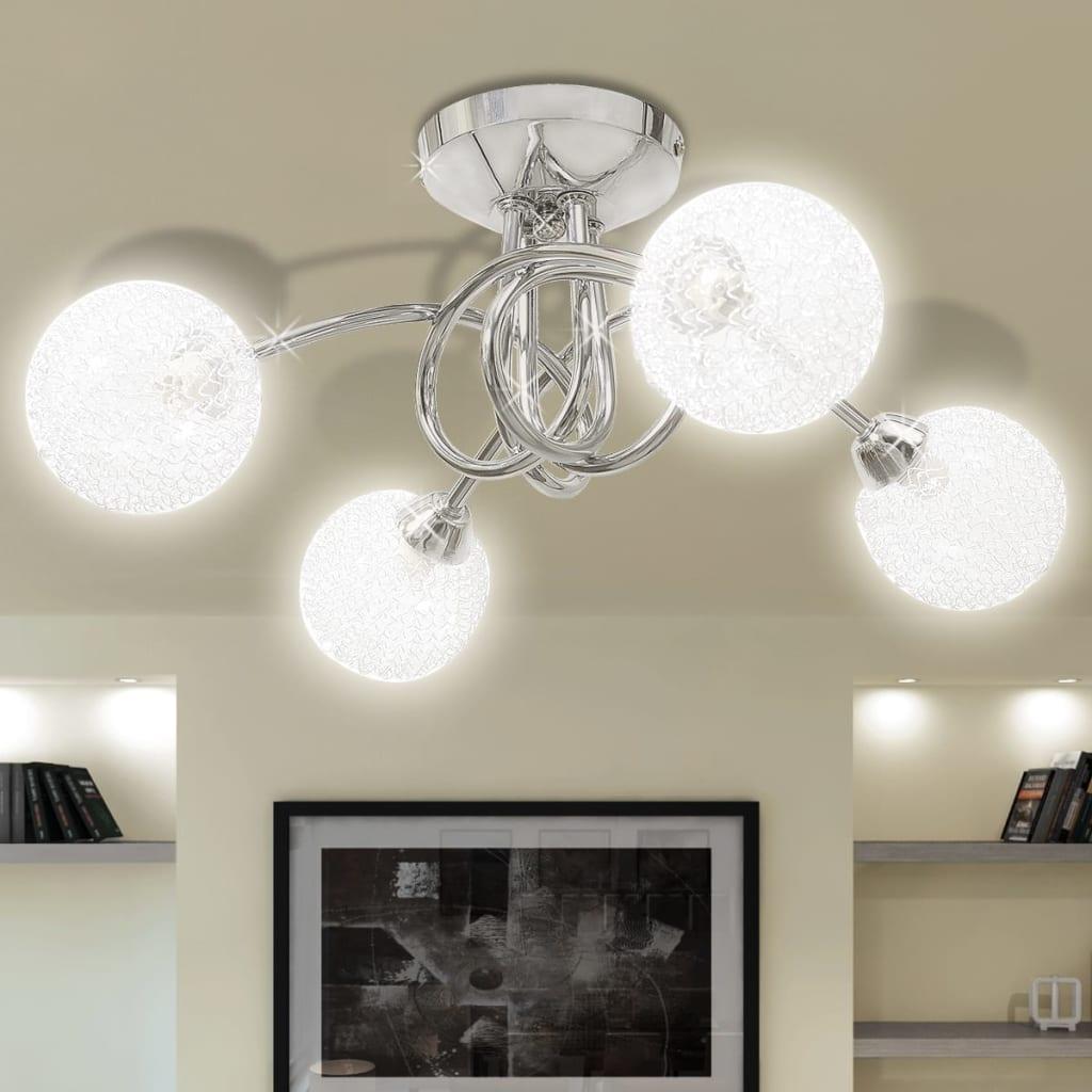 Φωτιστικό Οροφής με Καπέλα Συρμάτινης Πλέξης για 4 Λαμπτήρες G9