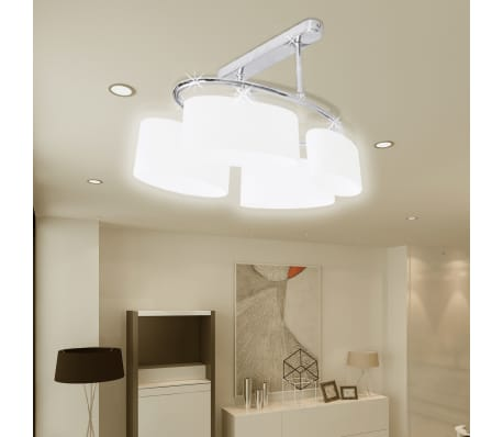 Ceiling Lamp with Ellipsoid Glass Shades for 4 E14 Bulbs[3/8]