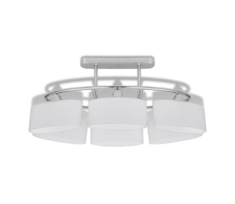 Ceiling Lamp with Ellipsoid Glass Shades for 6 E14 Bulbs[4/8]