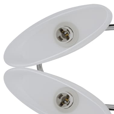 Ceiling Lamp with Ellipsoid Glass Shades for 6 E14 Bulbs[5/8]
