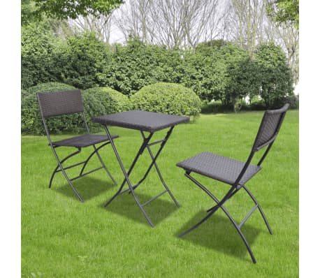 vidaxl garten bistro set 3 tlg poly rattan braun zum schn ppchenpreis. Black Bedroom Furniture Sets. Home Design Ideas