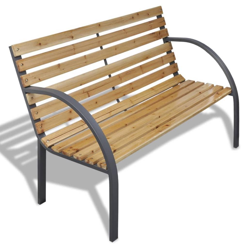 vidaXL Zahradní lavice 1120 cm dřevo a železo