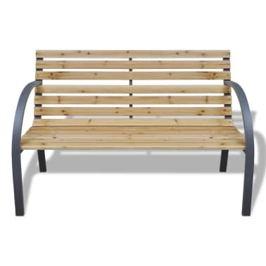 vidaXL Garden Bench 112 cm Wood and Iron[2/5]