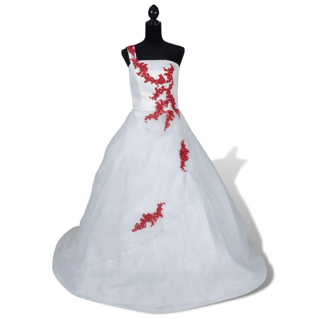Elegantní bílé svatební šaty, model A, velikost 42