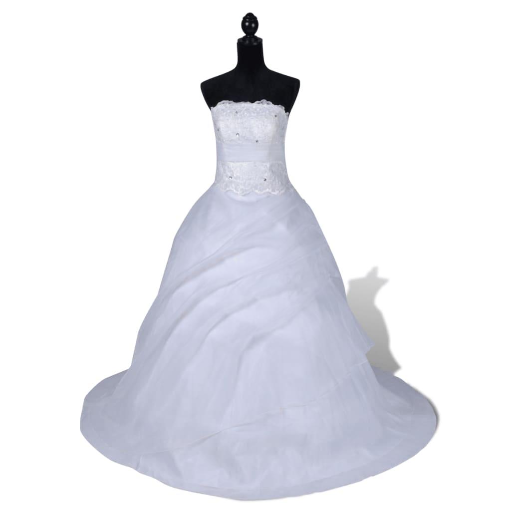 Elegantní bílé svatební šaty, model B, velikost 36