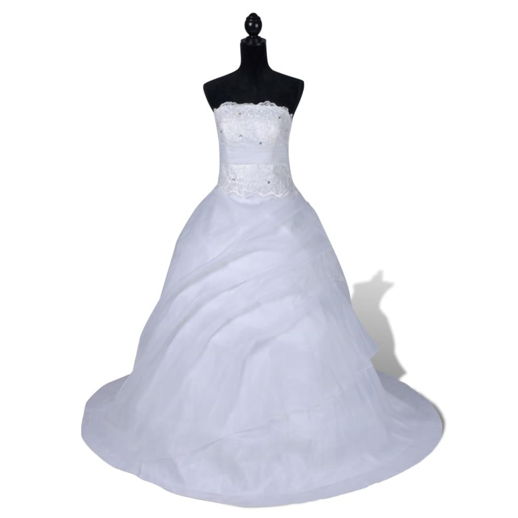 Elegantní bílé svatební šaty, model B, velikost 40
