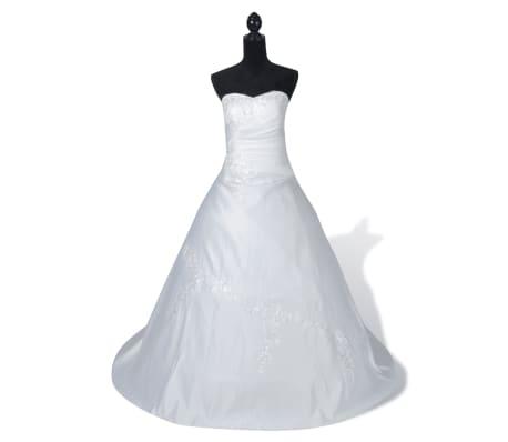 Abiti Eleganti Taglia 36.Abito Da Sposa Elegante Bianco Modello C Taglia 36 Vidaxl It