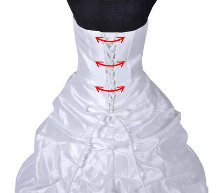 8dd9ae027e06 Handla Brudklänning D storlek 46 | vidaXL.se
