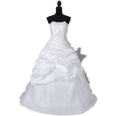 b097572d125 Elegant White Wedding Dress Model E Size 34 1 8