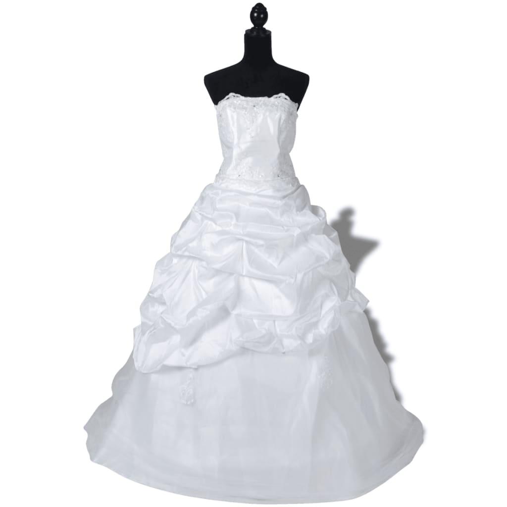 Elegantní bílé svatební šaty, model E, velikost 36
