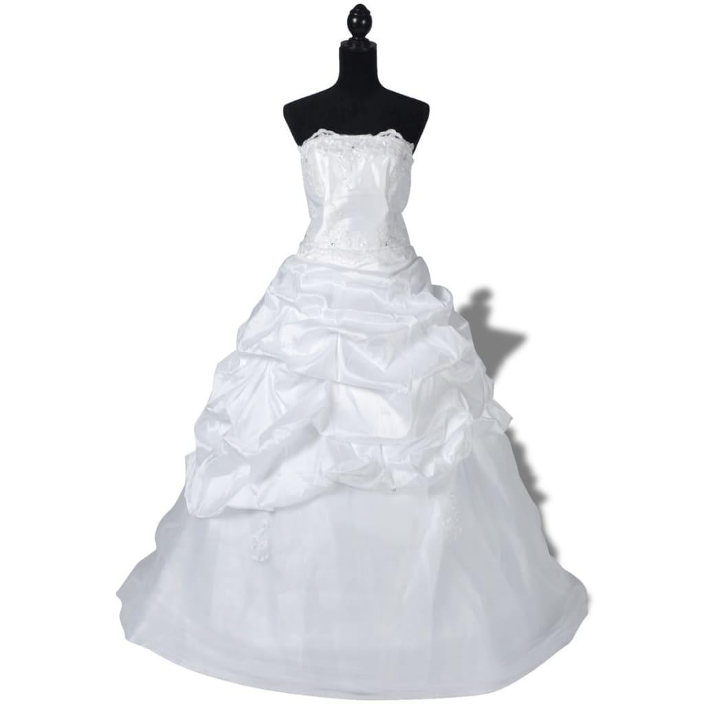 Elegantní bílé svatební šaty, model E, velikost 44