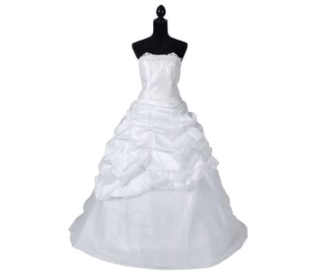 Abiti Eleganti Taglia 44.Abito Da Sposa Elegante Bianco Modello E Taglia 44 Vidaxl It