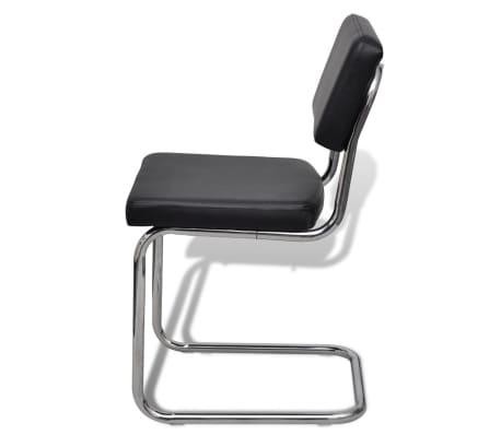 Set 6 pezzi sedie da pranzo nere di disegno moderno in for Sedie moderne nere