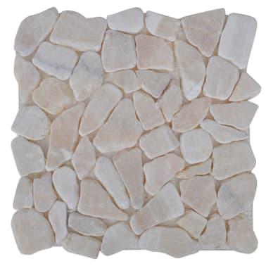 10 tlg stein mosaik fliesen marmor bruchmosaik gold 0 9 m2. Black Bedroom Furniture Sets. Home Design Ideas