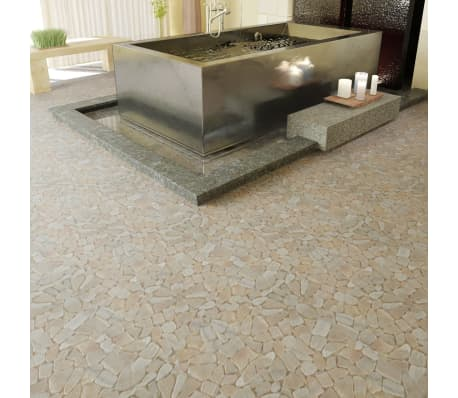 10 tlg stein mosaik fliesen marmor bruchmosaik gold 0 9 m2 g nstig kaufen. Black Bedroom Furniture Sets. Home Design Ideas