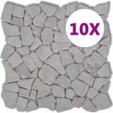 Akmens Mozaikos Plytelės, Baltas Marmuras, 0,9 kv.m