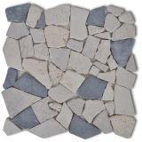 Akmens Mozaikos Plytelės, Juodas ir Baltas Marmuras, 0,9 kv.m