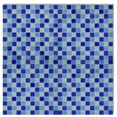 10x glass mosaik fliesen blau wei 0 9 qm g nstig kaufen. Black Bedroom Furniture Sets. Home Design Ideas