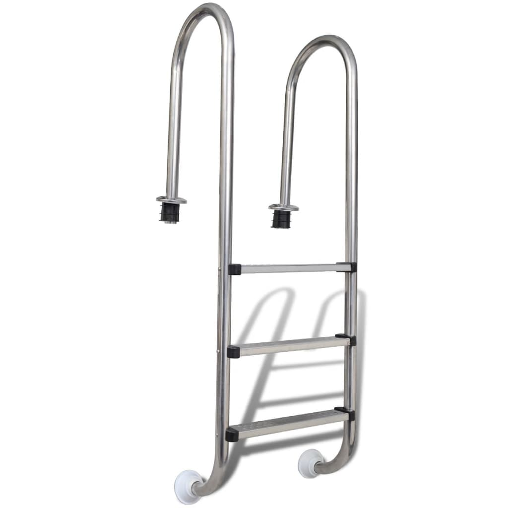 vidaXL Stainless Steel In-Pool Ladder 3 Steps