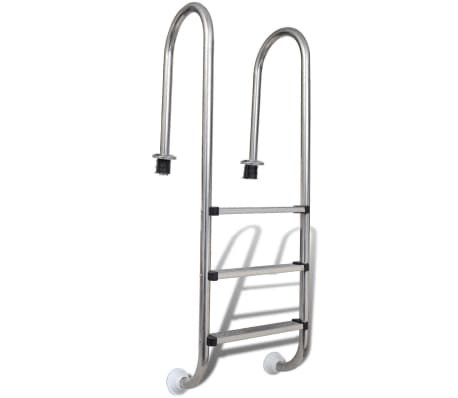 "vidaXL Pool Ladder 3 Steps Stainless Steel 47.2""[1/6]"