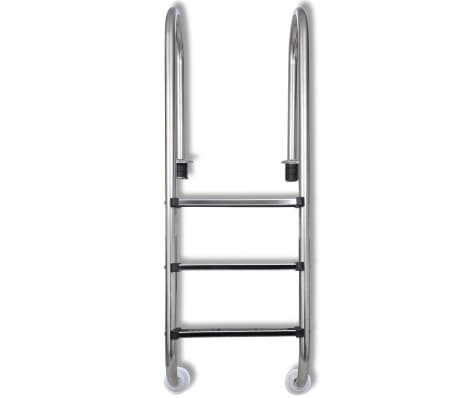 "vidaXL Pool Ladder 3 Steps Stainless Steel 47.2""[2/6]"
