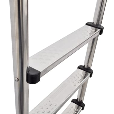 "vidaXL Pool Ladder 3 Steps Stainless Steel 47.2""[3/6]"