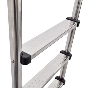 vidaXL Escalera de piscina 3 peldaños acero inoxidable 120 cm[3/6]