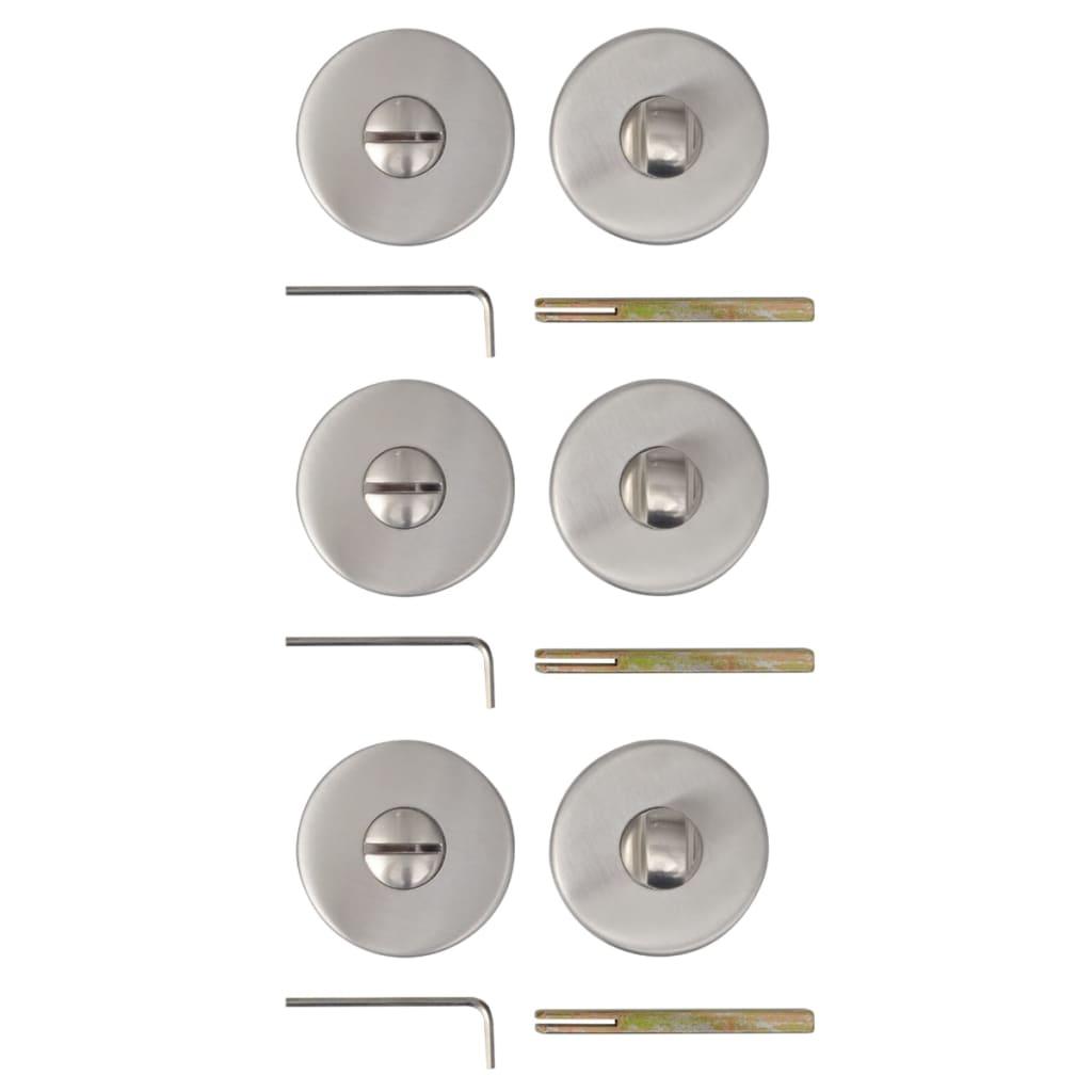 Afbeelding van vidaXL Deur toiletrozet RVS (3 sets)