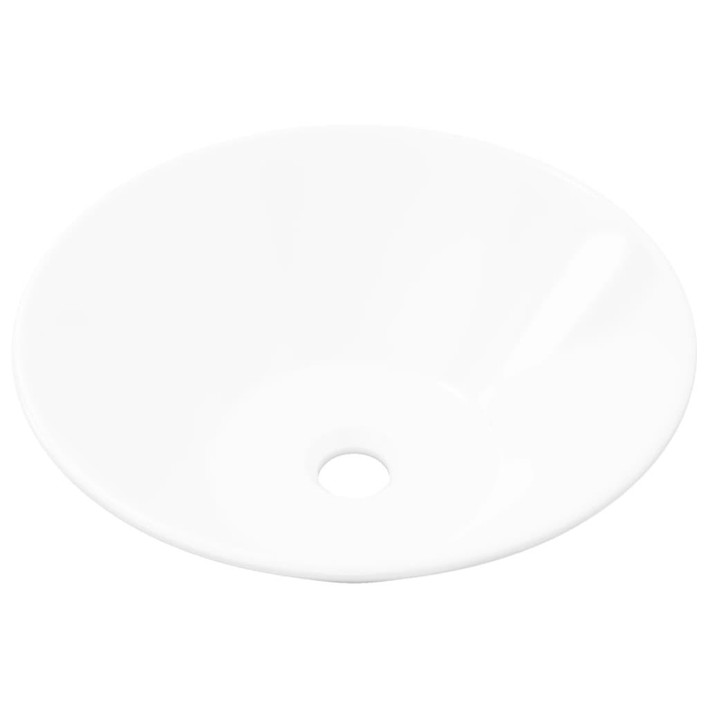 Afbeelding van vidaXL Keramische wasbak taps (wit)