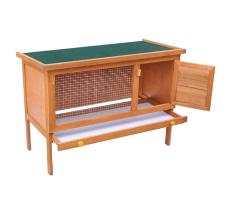 vidaXL Outdoor Rabbit Hutch 1 Layer Wood[2/5]