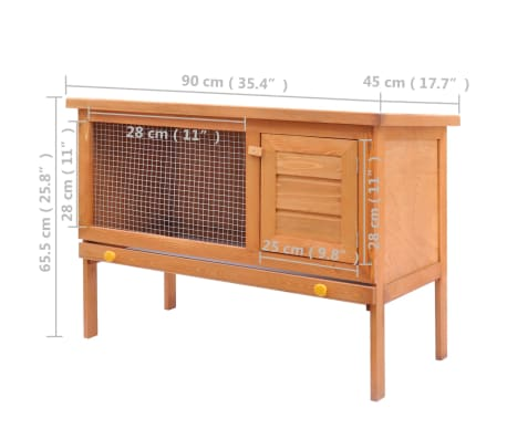Outdoor Rabbit Hutch Small Animal House Pet Cage 1 Layer Wood[5/7]