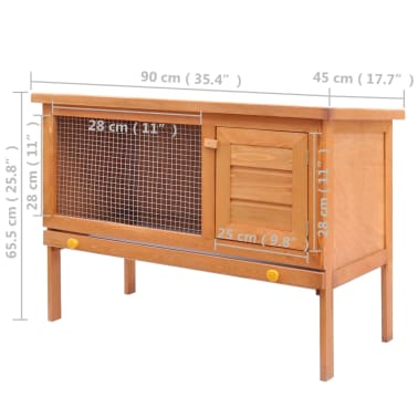 vidaXL Outdoor Rabbit Hutch 1 Layer Wood[5/5]