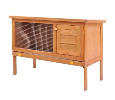acheter vidaxl clapier 1 tage bois pas cher. Black Bedroom Furniture Sets. Home Design Ideas