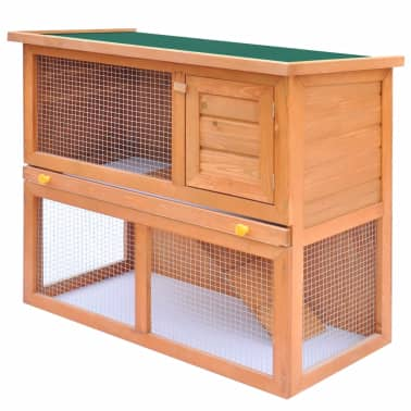 Outdoor Rabbit Hutch Small Animal House Pet Cage 1 Door Wood[1/8]