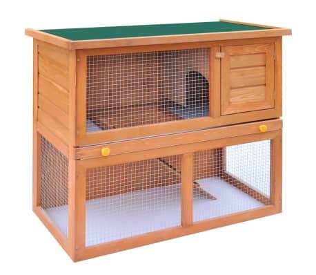 vidaXL Zunanji zajčnik / hišica za male živali z 1 vrati iz lesa[2/8]