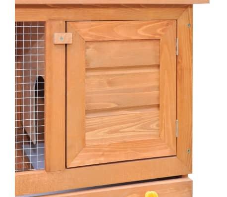 vidaXL Zunanji zajčnik / hišica za male živali z 1 vrati iz lesa[3/8]