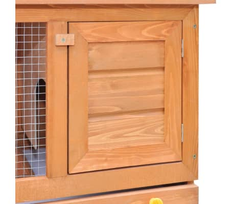 vidaXL udendørs bur til små kæledyr 1 dør træ[3/8]