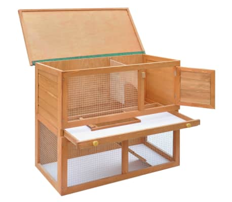 Outdoor Rabbit Hutch Small Animal House Pet Cage 1 Door Wood[4/8]