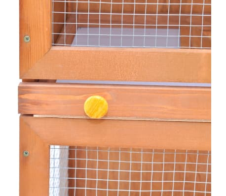 Outdoor Rabbit Hutch Small Animal House Pet Cage 1 Door Wood[6/8]
