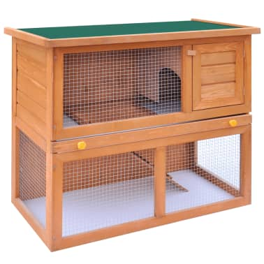 Outdoor Rabbit Hutch Small Animal House Pet Cage 1 Door Wood[2/9]