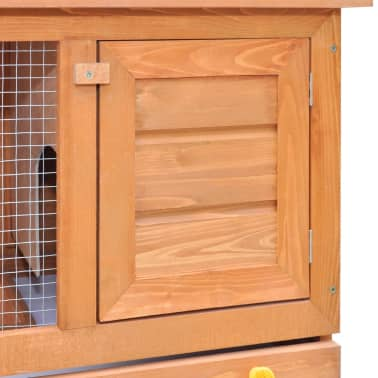 Outdoor Rabbit Hutch Small Animal House Pet Cage 1 Door Wood[3/9]